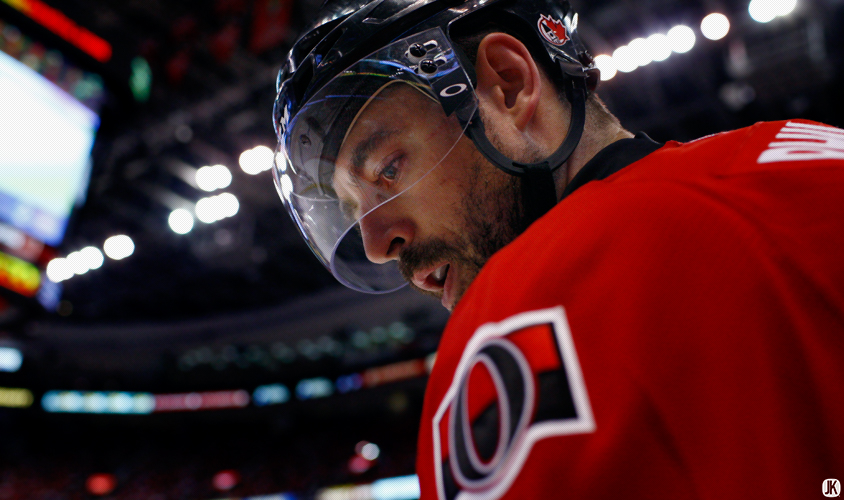 "OTTAWA, CANADA - May 07, 2013: Chris Phillips #4 ""A""during game four of the NHL Eastern Conference Quarterfinals between the Canadiens and Senators at Scotiabank Place in Ottawa, Ontario, Canada. ***** Editorial Use Only *****Jay Kopinski - Icon/SMI"